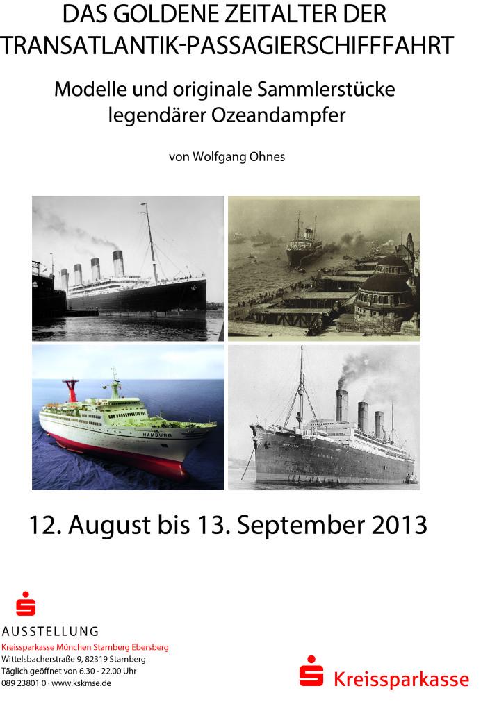 Presseplakat zur Ausstellung in der Kreissparkasse Starnberg
